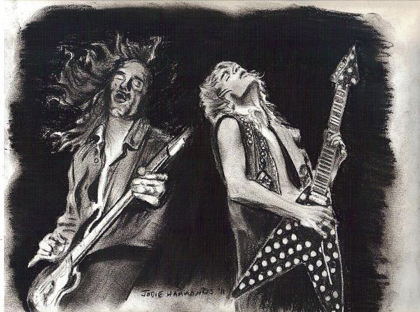 Randy Rhoads, Cliff Burton by Jodham